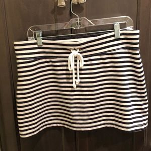 J Crew cotton blend striped skirt